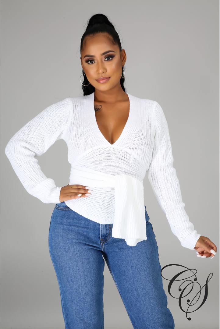Amari Asymmetrical Knit Sweater