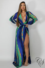 Angela Belted Chain Maxi Dress, Dresses - Designs By Cece Symoné