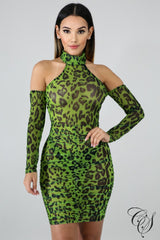 Aria Cheetah Mesh Bodycon Dress, Dresses - Designs By Cece Symoné