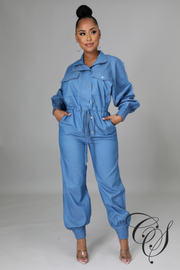Asia Denim Jumpsuit