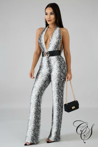 Ava Rattle Wrap Jumpsuit