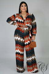 Aylen Chevron Zag Jumpsuit, Jumpsuit - Designs By Cece Symoné