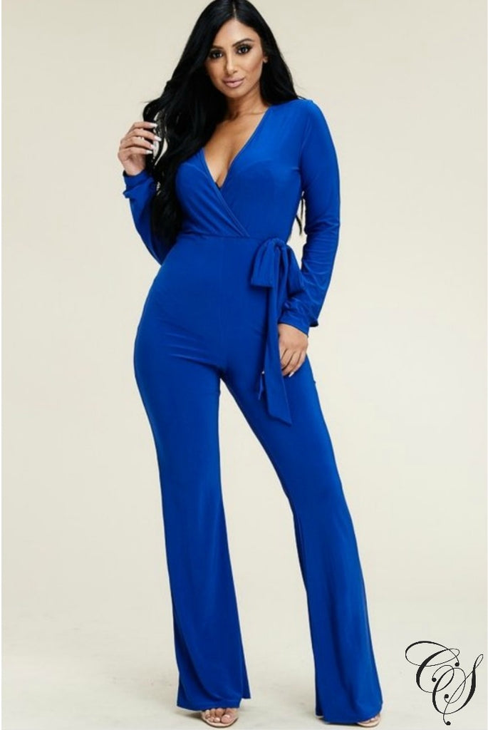 66db20ccb65 Beatriz Long Sleeve Wide Leg Jumpsuit with Tie Waist – Designs By ...