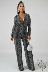 Bonnie Snakeskin Jumpsuit, Jumpsuit - Designs By Cece Symoné