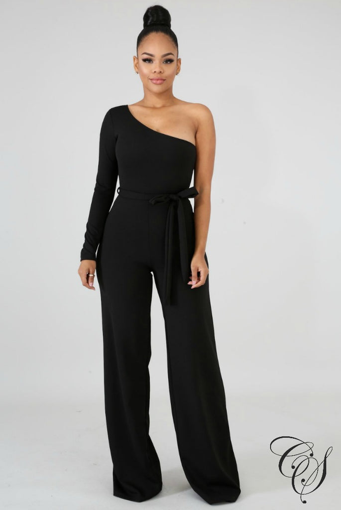 Braelynn Open Slit Net Jumpsuit, Jumpsuit - Designs By Cece Symoné