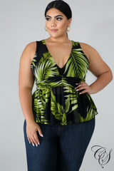 Brandi Tropical Blouse, Top - Designs By Cece Symoné