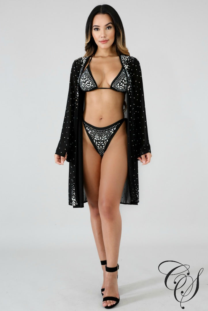 Brianne Rhinestone Swim Set, swimsuit - Designs By Cece Symoné