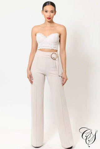 Briella High Waist O Ring Belt Detailed Pants