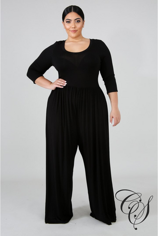 Brittany Jersey Wide Jumpsuit