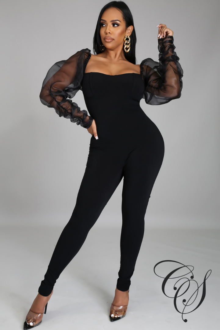 Bryanna Organza Long Sleeve Jumpsuit
