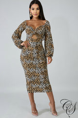 Carly Roaring Twist Midi Dress, Dresses - Designs By Cece Symoné