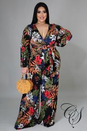 Charnice Dark Floral Jumpsuit