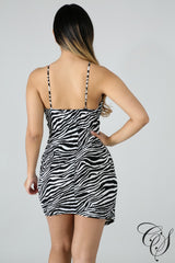 Cheyenne Zebra Print Mini Dress, Dresses - Designs By Cece Symoné