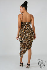 Chrissy Wild Leopard Dress, Dresses - Designs By Cece Symoné