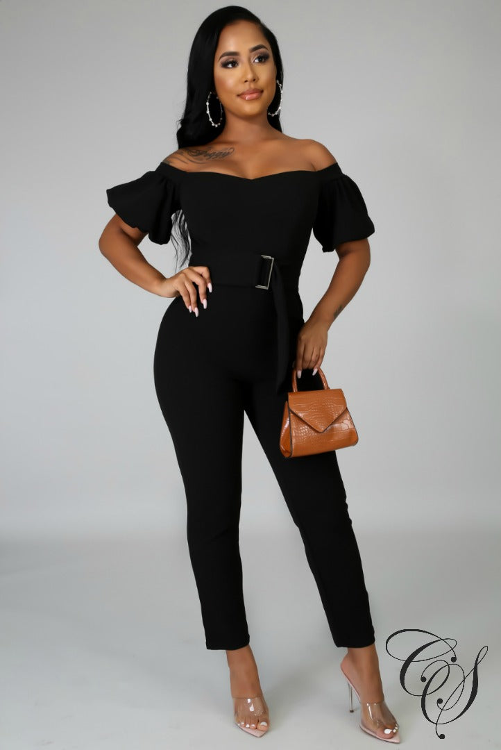 Christine Short Puff Sleeves Jumpsuit, Jumpsuit - Designs By Cece Symoné