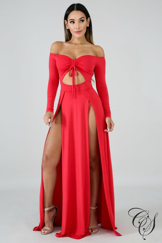 Christine Maxi Slit Dress