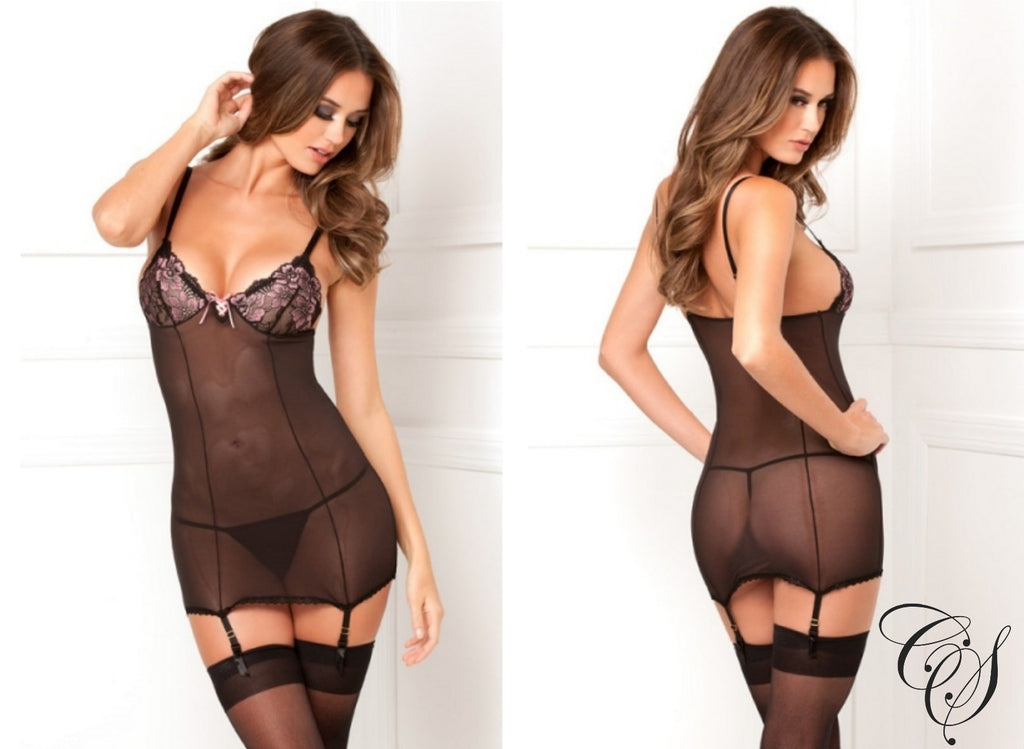 Ciara Sheer Black Babydoll, Lingerie - Designs By Cece Symoné