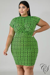 Dallas Neon Maze Twist Dress, Dresses - Designs By Cece Symoné