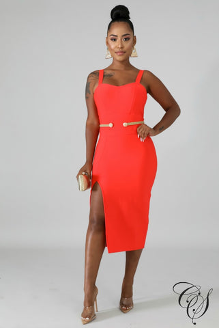 Desna Bandage Rope Midi Dress