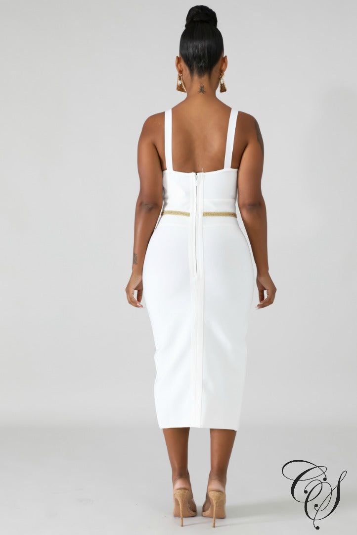 Desna Bandage Rope Midi Dress, Dresses - Designs By Cece Symoné