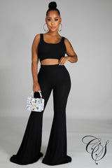 Devin Crop Top Pant Set