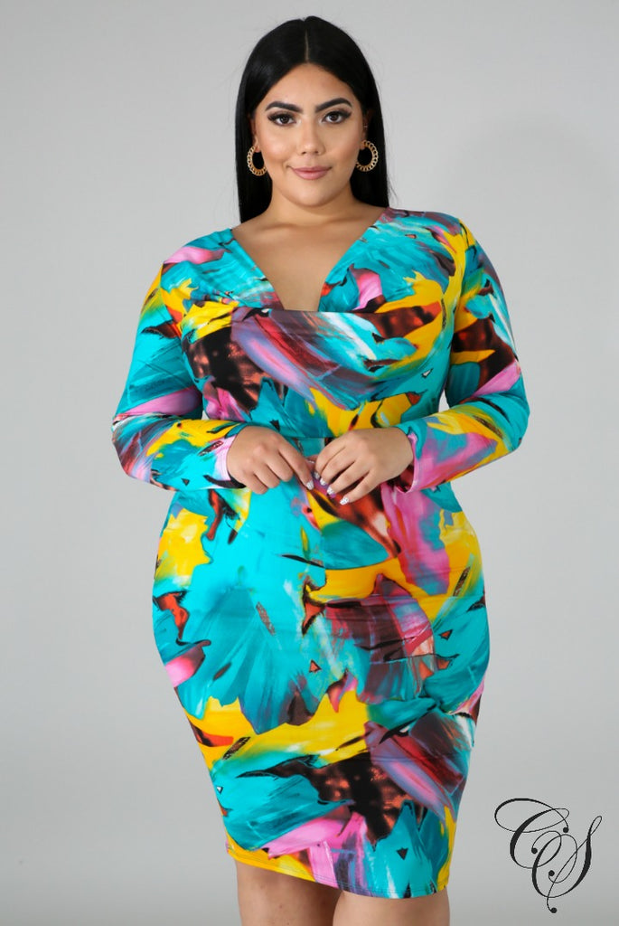 Draya Drape Color Dress, Dresses - Designs By Cece Symoné