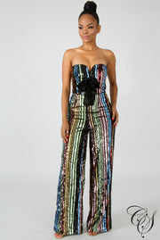 Eloise Sequin Rainbow Jumpsuit, Jumpsuits - Designs By Cece Symoné