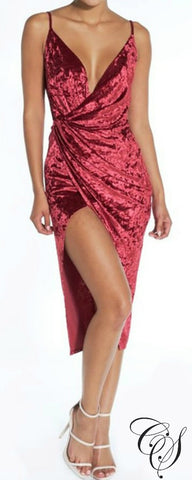 Elysia Velvet Glam Drape Dress