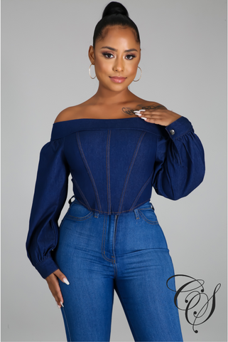 Essence Off The Shoulder Denim Top