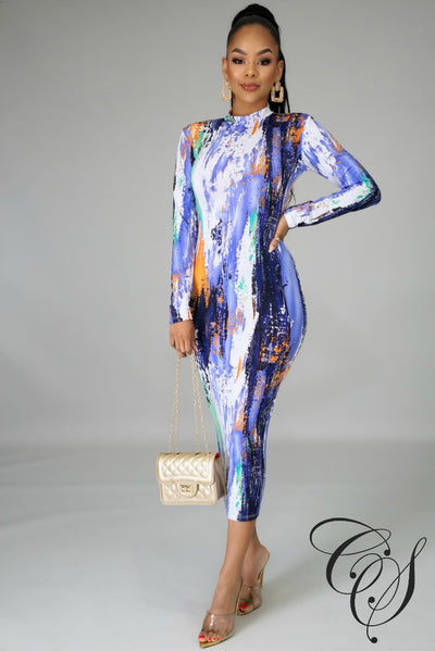 Estrella Striking Midi Dress, Dresses - Designs By Cece Symoné