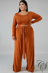 Evelyn High Waist Palazzo Pant Set, Set - Designs By Cece Symoné