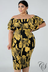 Falan Palms Bodycon Dress, Dresses - Designs By Cece Symoné