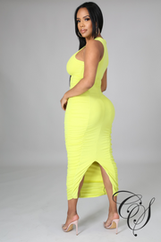 Falynn Extreme Ruched Midaxi Dress