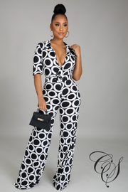 Fancy Monochrome Jumpsuit