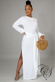 Galina Balloon Sleeve Maxi Dress