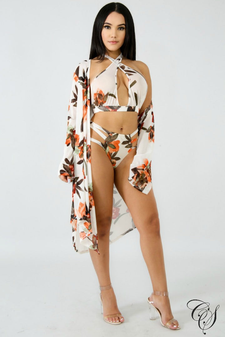 Gamila Kimono Swim Set, swimsuit - Designs By Cece Symoné