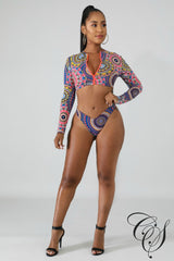 Gayle Medallions Swim Set, swimsuit - Designs By Cece Symoné
