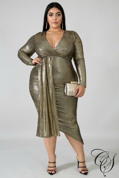Gina Metallic Bodycon Dress, Dresses - Designs By Cece Symoné