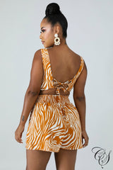 Gina Striped Short Set, Set - Designs By Cece Symoné