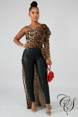 Giselle Cheetah Long Tail Top