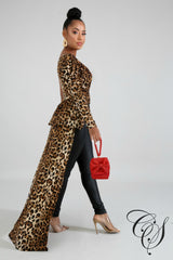 Giselle Cheetah Long Tail Top, Top - Designs By Cece Symoné