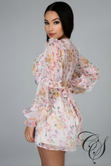 Harriett Floral Chiffon Romper, Dresses - Designs By Cece Symoné