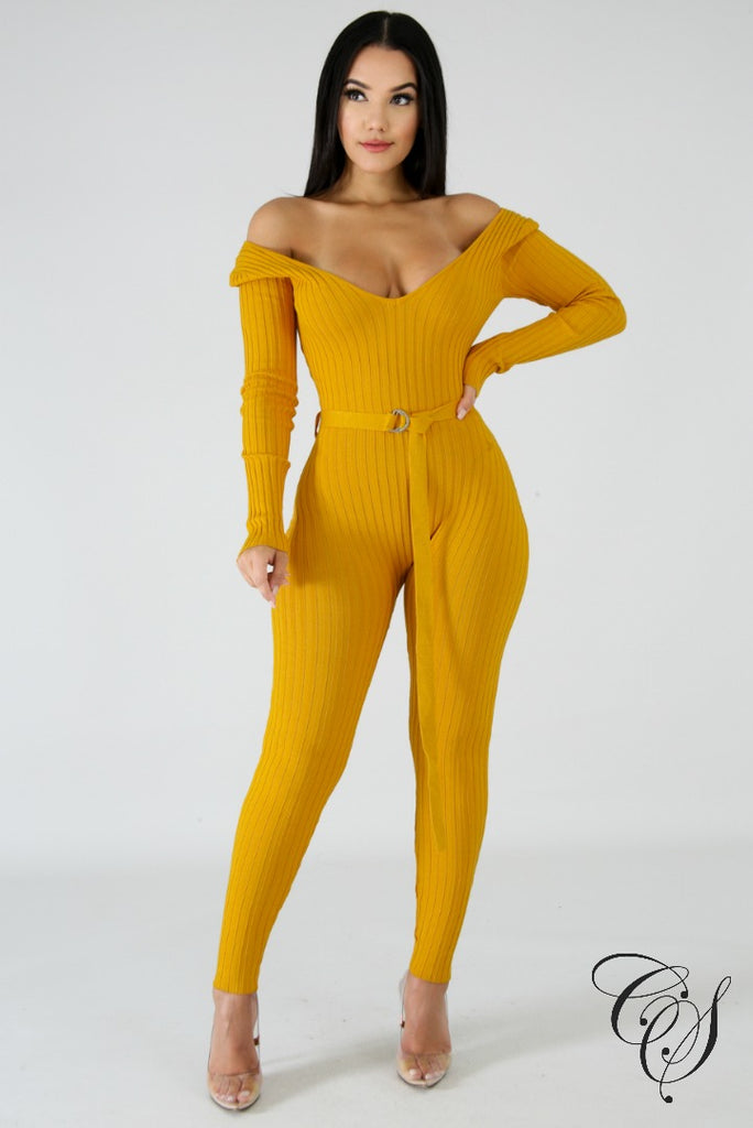 Jamison Rib Knit Jumpsuit, Jumpsuit - Designs By Cece Symoné