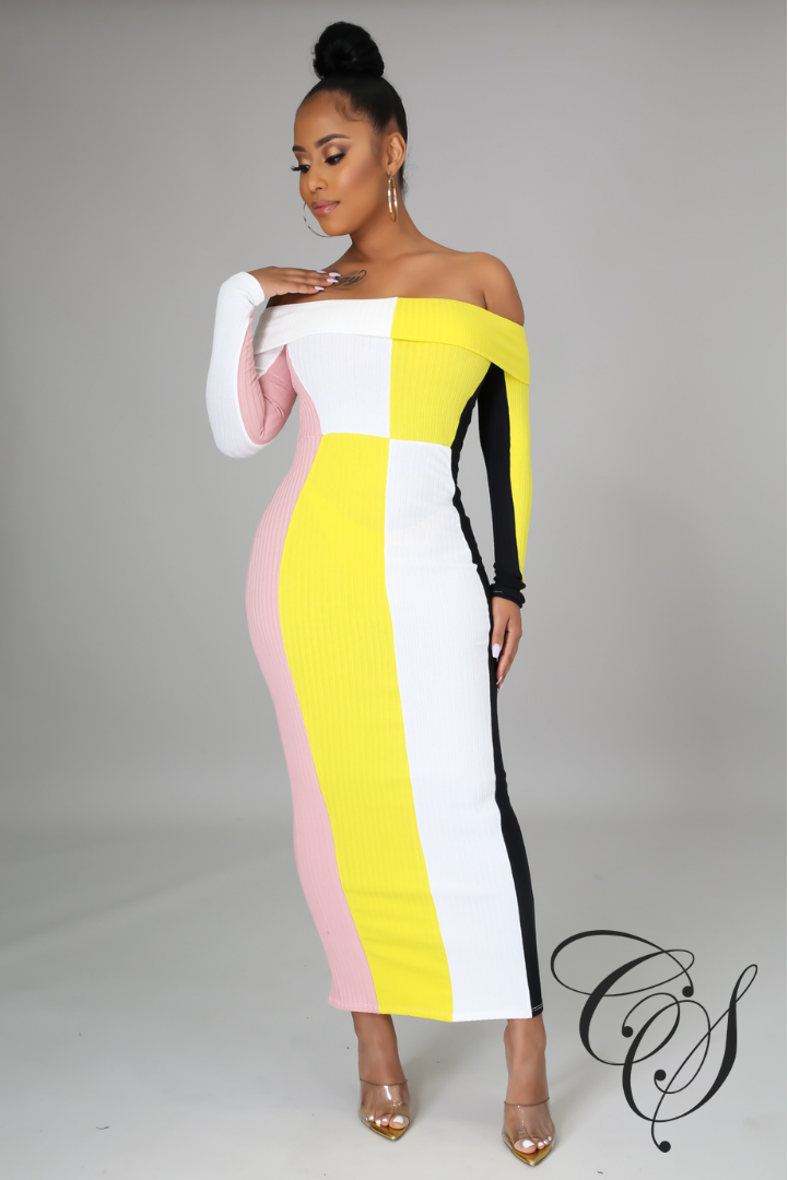 Jazlyn Color Block Maxi Dress