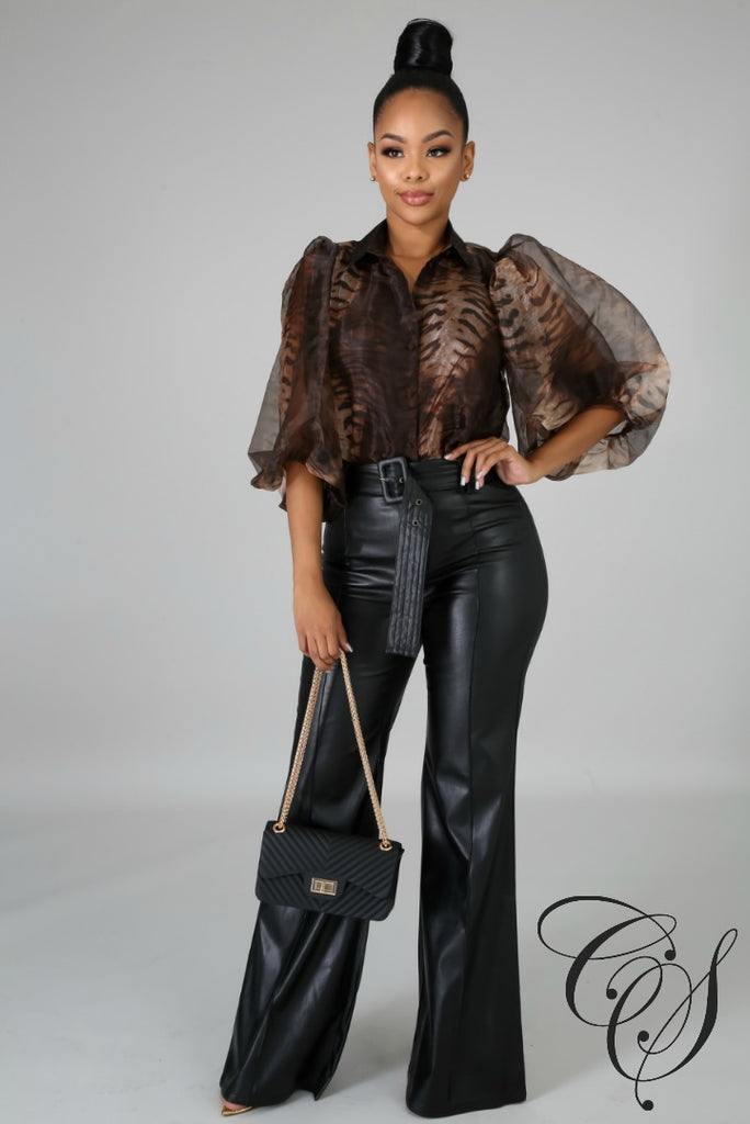 Jazzy Tiger Sheer Top, Top - Designs By Cece Symoné