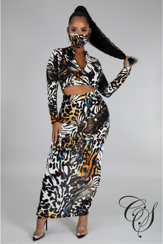 Jenise Multi Color Animal Print Set