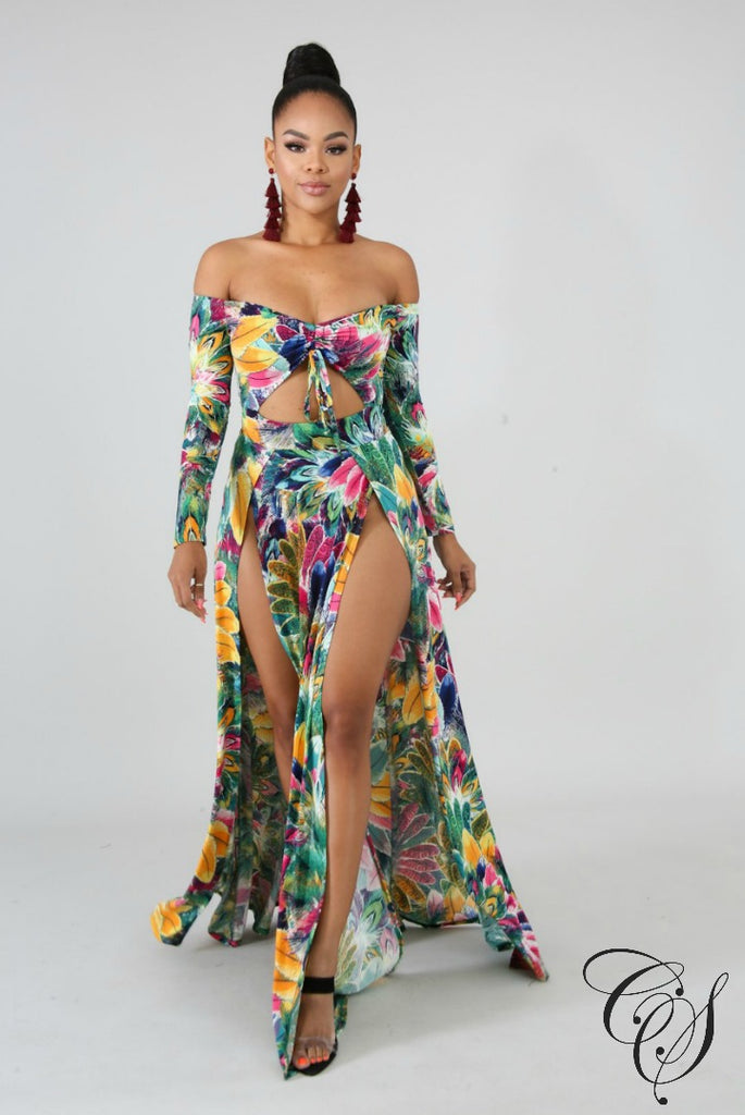 Joanne Sketch Maxi Dress, Dresses - Designs By Cece Symoné