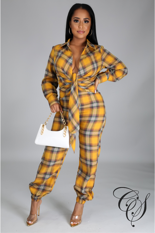 Jordyn Plaid Jumpsuit
