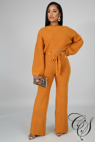 Juliet Knit Bell Bottom Pant Set
