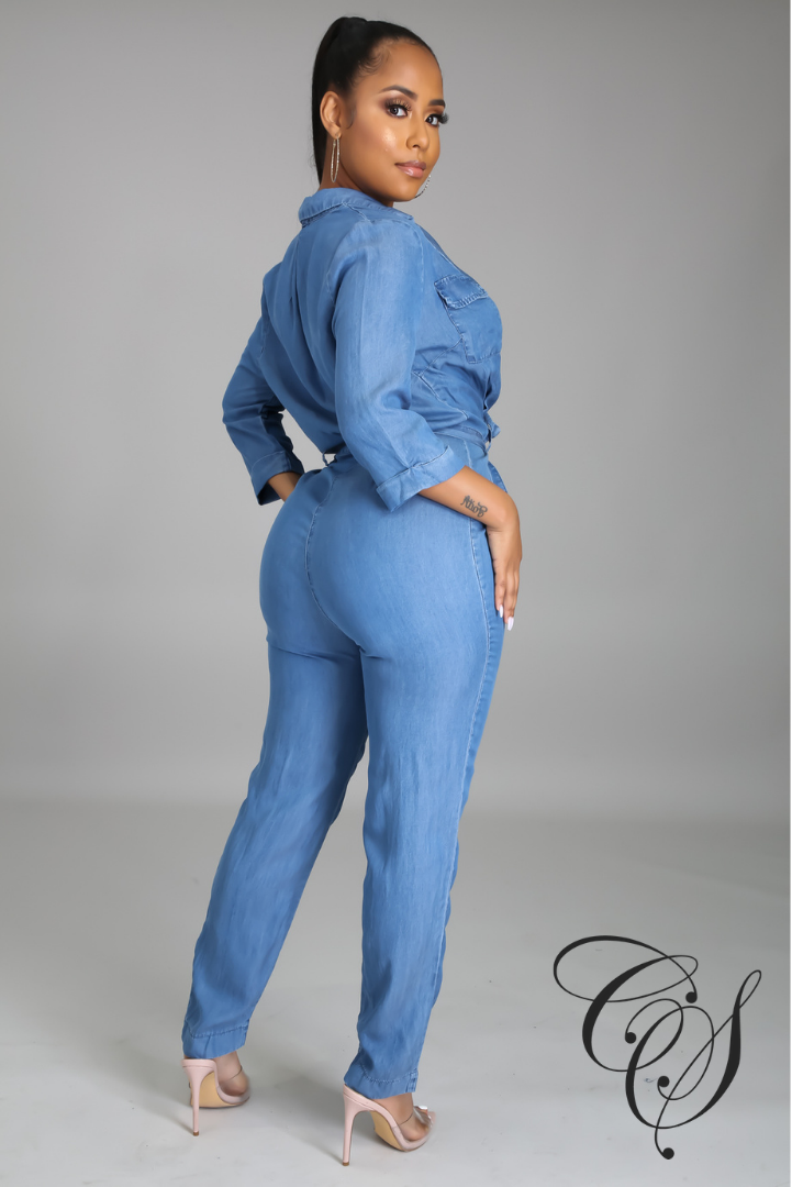Kaeli Denim Statement Jumpsuit